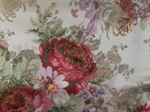 Deko- und Gardinenstoff Blüten 140 cm breit - Meterware