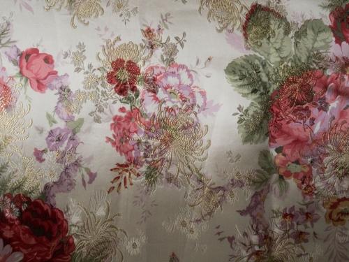 lfm Deko- und Gardinenstoff Blüten 140 cm breit