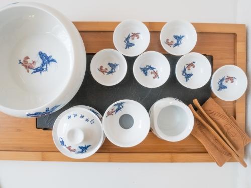 Service mit Gaiwan für Teezeremonie