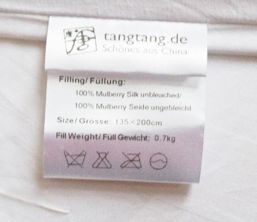 Öko - Winter - Seidenbett 3000 g Maulbeerseidenfüllung Bettdecke Seide