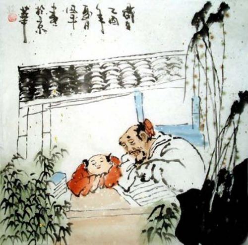 Erbauung Aquarell von Tang Xi Ping