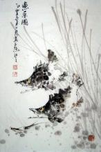 Fischausflug / Aquarell von Wang Xiao Long