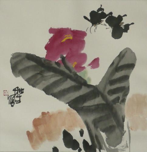 Sommerblüte - Aquarell von Huang Qiu Sheng