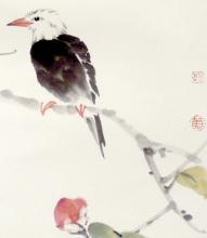Singvogel im Frühling - Aquarell von Ren Tao