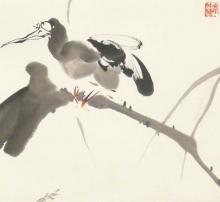 Vogel - Tuschezeichnung
