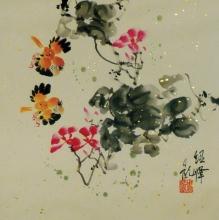 Trichterwinde Aquarell von Zhou Shao Feng