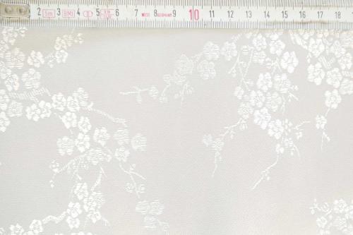 Jaquardstoff Kirschblüte weiss - Meterware