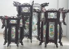 China Leuchte aus Holz Gr. M