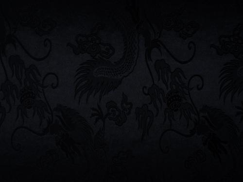 lfm China Dekostoff Drache groß schwarz