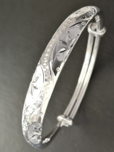Handgefertigter Armreif Feinsilber 999,9 ca. 30 g Armband verstellbar A05