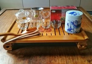 Angebot: -25 % Teebrett für Teezeremonie + Zubehör + Tee