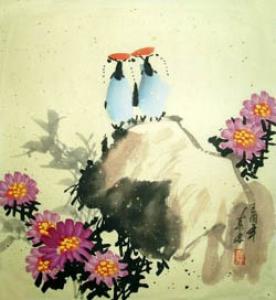 Harmonie der Natur Aquarell von Mo Ling China