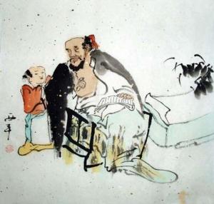 Der Weise Aquarell von Tang Xi Ping