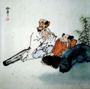 Die Rast Aquarell von Tang Xi Ping