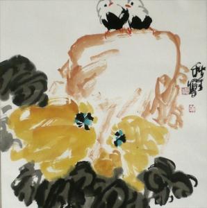 Ausblick - Aquarell von Huang Qiu Sheng