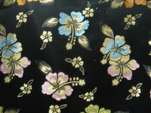 lfm Jaquardstoff Blumen farbig
