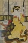 Geisha im Teehaus - Gemälde aus chinesischem Privatbesitz