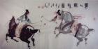Polo in der Tang Dynastie II Aquarell von Li Gang