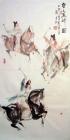 Polo in der Tang Dynastie I Aquarell von Li Gang