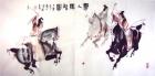 Polo in der Tang Dynastie III Aquarell von Li Gang