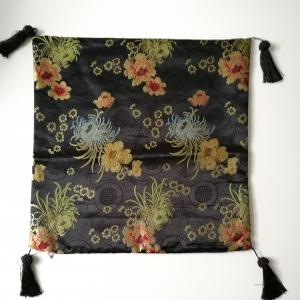 2 Kissenhüllen Blumen schwarz