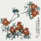 Im Buddhismus zählen innere Werte Aquarell von Zhang Xian