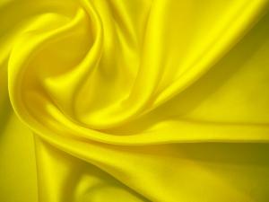 leichte Seide uni 16 Mommé - gelb – Meterware