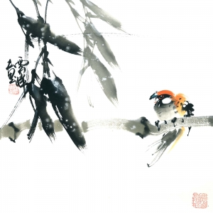 Der Ausflug - Aquarell von Wu Yun Feng