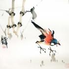 Unterwegs - Aquarell von Wu Yun Feng