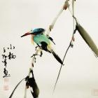 Kurze Erholung - Aquarell von Wu Yun Feng