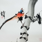 Nach oben - Aquarell von Wu Yun Feng