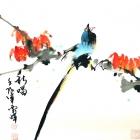 Der Sänger - Aquarell von Wu Yun Feng