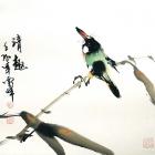 Die Aussicht - Aquarell von Wu Yun Feng