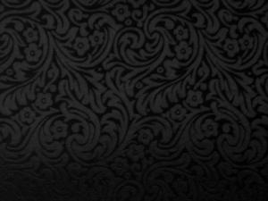 Seide Blütenornament schwarz - Meterware