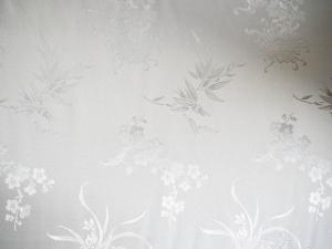 Seidenstoff 4 Blüten weiß - Meterware