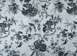 lfm China Brokat Blumen und Vögel silber