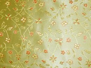 Jaquardstoff Blüten gold - Meterware
