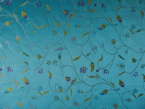Dekostoff Blüten blau - Meterware