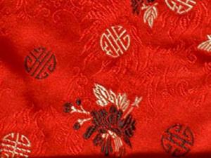 Dekostoff Blumen rot - Meterware