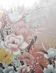 Kimonoseide Blüten 2 - Meterware