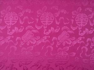 China Dekostoff Glückszeichen altrosa - Meterware