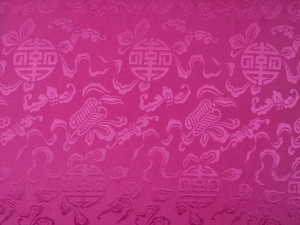 lfm China Dekostoff Glückszeichen altrosa